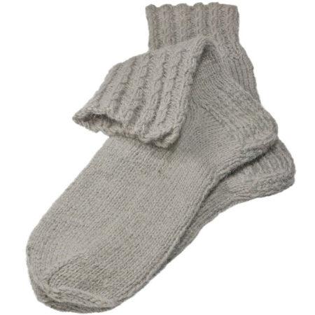 Grijze wollen sokken